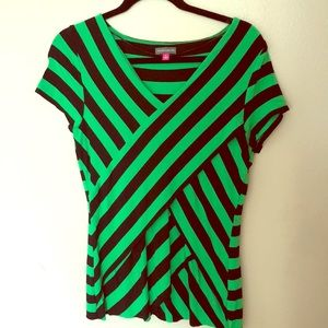 Vince Camuto, L Short Sleeve Top